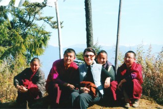 Dr. Gross with Nuns in Bhutan
