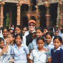 Dr. Gross with Children at a Girls' School in India