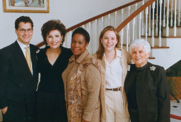 Shawn Gross, Dr. Gross, Shiela Jackson Lee, Kate Gross, Dr. Gross' Mother, Ida on the occasion of President Clinton's visit to Houston