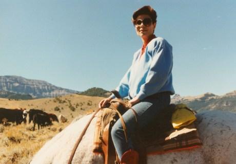 Dr. Gross riding a horse