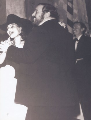 Dr. Gross dancing with the Luciano Pavarotti