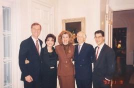 Michael Huffington, Dr. Gross, Arianna Huffington, Jenard Gross, and Shawn Gross