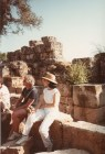 Dr. Gross, Princeton Architect, Michael Graves, sitting on the ruins in Turkey