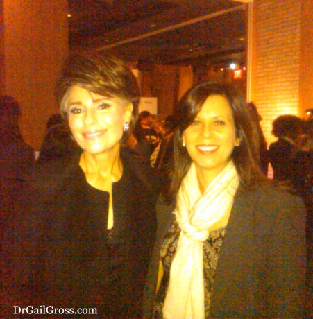Dr. Gail Gross with MORE Magazine Publisher Alison Adler Matz at the magazine's MORE Night Out Event (NYC, 2013)