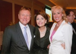 Dr. Gail Gross with Dr. Dennis Gillings & Dr. Mireille Gillings at the 2013 Jung Center Benefit Event
