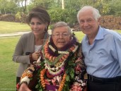 Dr. Gail Gross and Jernard Gross with Medtronic founder Earl Bakken, at his 90th birthday celebration.