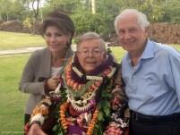 Dr. Gail Gross and Jernard Gross with Medtronic founder Earl Bakken, at his 90th birthday celebration.