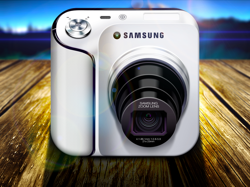 samsung galaxy camera 30 Highly Skeuomorphic Icon Designs With Incredible Detail