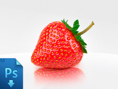 strawberry shot 25 Gorgeous 3D Fruit & Vegetable Illustrations