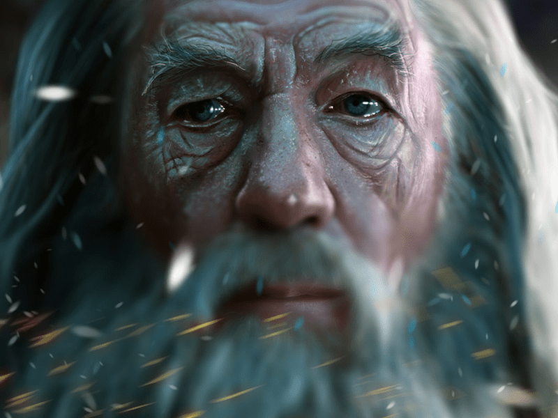 gandalf 25 Breathtaking Digital Paintings from Dribbble