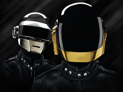 daftpunk 1x 25 Breathtaking Digital Paintings from Dribbble