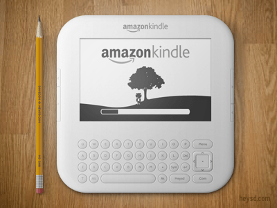 amazonkindle400x300 30 Highly Skeuomorphic Icon Designs With Incredible Detail