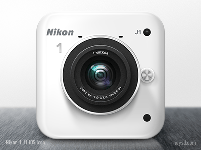 nikon 1 j1 400x300davidim 30 Highly Skeuomorphic Icon Designs With Incredible Detail