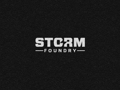 storm foundry dribbble 30 Clever Examples of Negative Space Logos