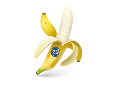 banana  fruit  yellow  peel 25 Gorgeous 3D Fruit & Vegetable Illustrations