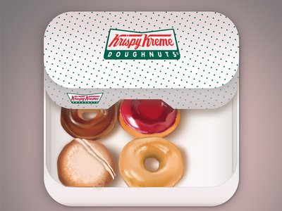 krispy kreme ios 1x 25 Breathtaking Digital Paintings from Dribbble