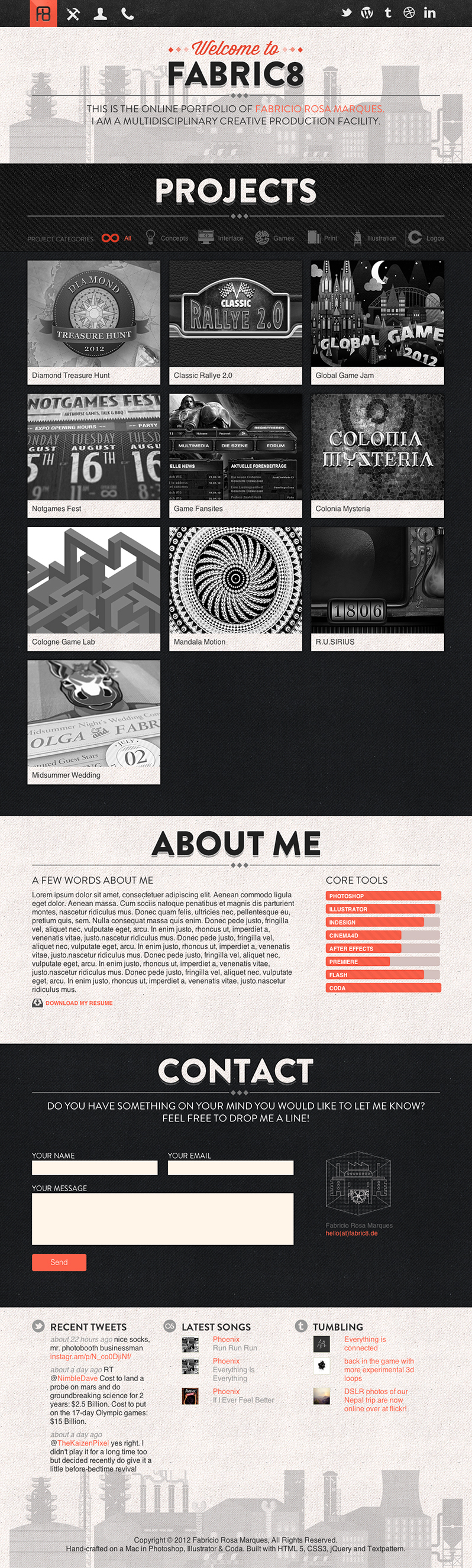 fabric8 full 15 Stylish Examples of Portfolio Web Design | Inspiration