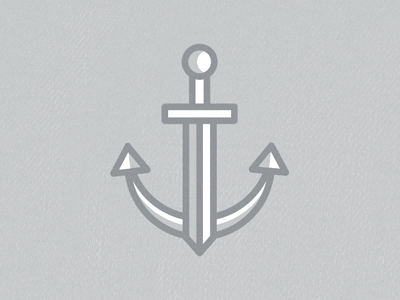 anchor sword ddd1b 16 Beautiful Examples of Anchor Logos