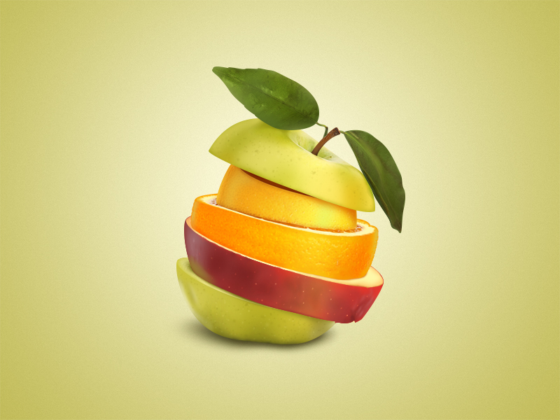 fruits 25 Gorgeous 3D Fruit & Vegetable Illustrations