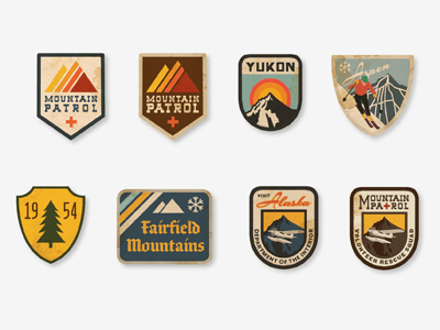 vintage ski patches 20 Stylish Retro Logos | Inspiration