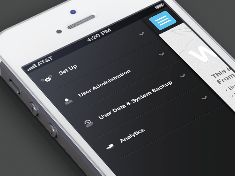 adminpanel 25 Examples of Mobile UI Inspiration | Part 11
