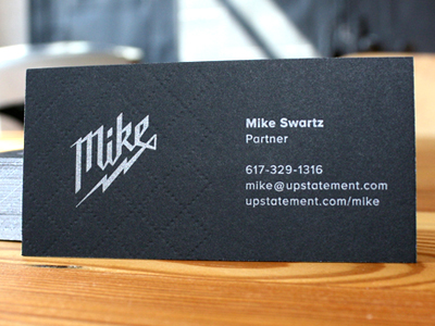 upstatement cards dribbble mike 15 Sleek Examples of Black Business Cards