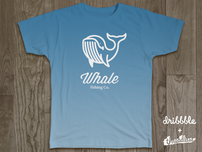 threadlesss dribbble whale 40 Incredible T Shirt Concepts for Inspiration