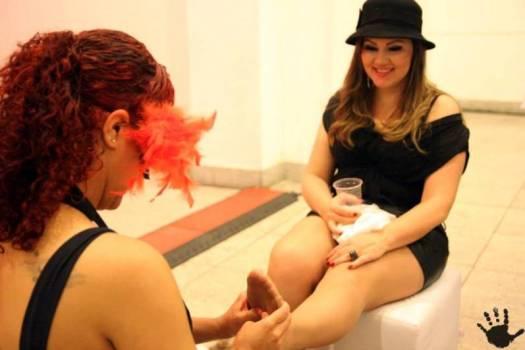 spa lounge massagens nos pés eventos