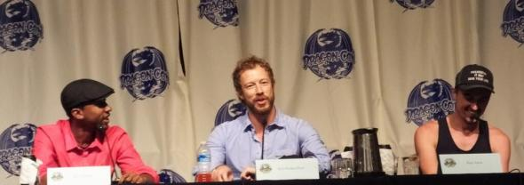 Kris Holden-Ried, K.C. Collins, and Paul Amos at Dragon*Con 2013