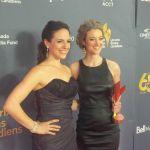 Anna Silk and Zoie Palmer at Canadian Screen Awards 2014 (Source: Jentzen M. Shea)