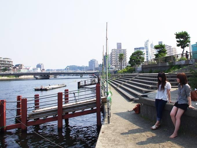 江ノ島でのインタビュー風景