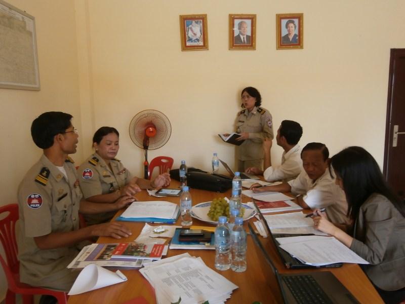 カンボジアの警察支援の様子