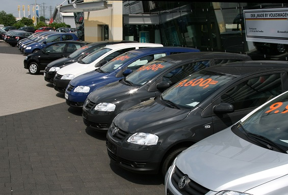 A row of used cars