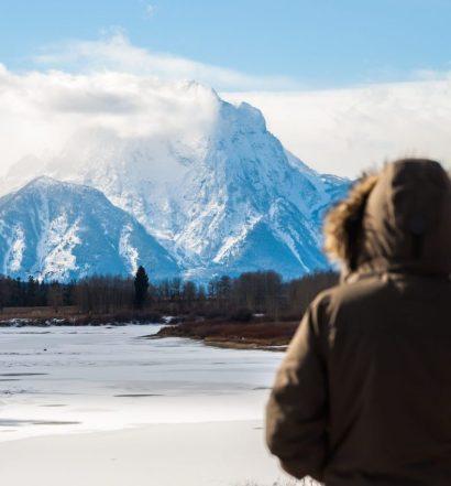snowy mountains of Grand Teton National Park, USA