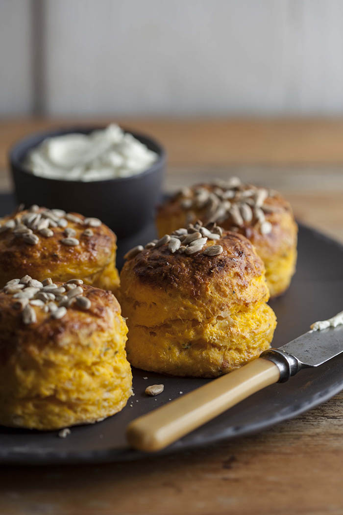 pumpkin and parmesan scones with thyme