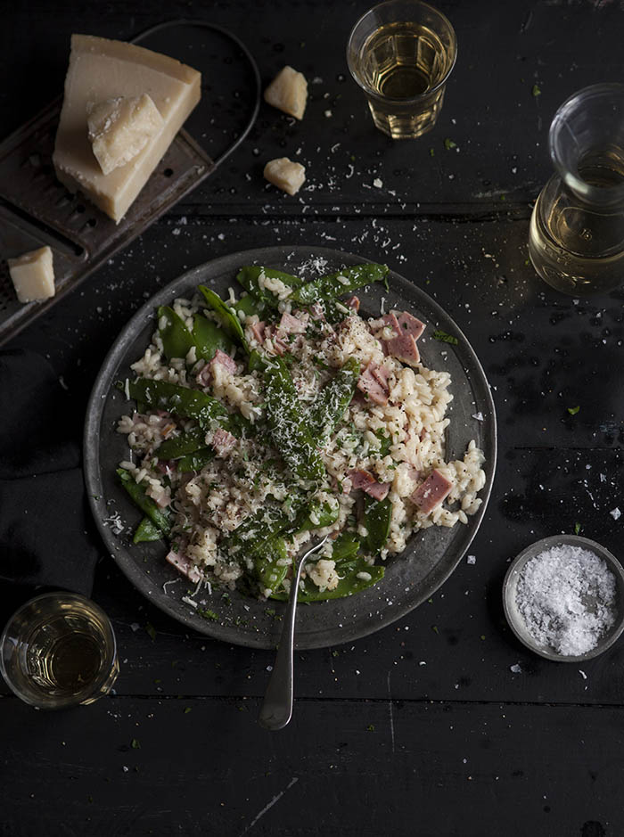 pea and gammon risotto