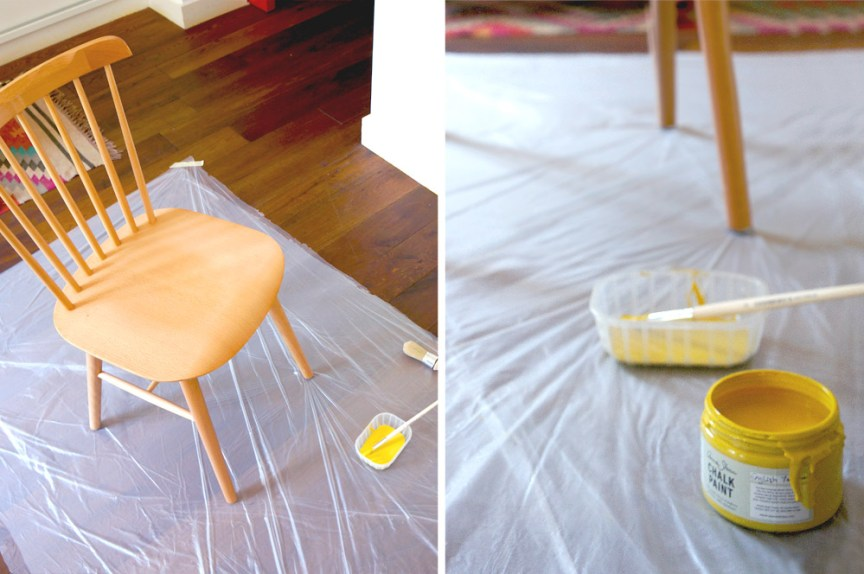 Before & after. A yellow nordic chair · Una silla amarilla de estilo nórdico | Dr. Livinghome. A modern DIY blog
