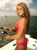 Fishing in bikini