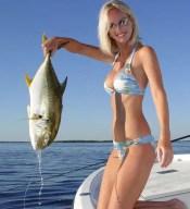Tropical fishing girl
