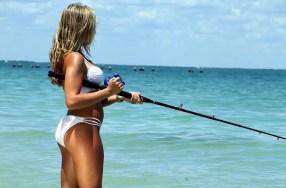 fishing girl multiplier reel