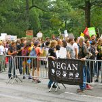 Vegan group at Climate March