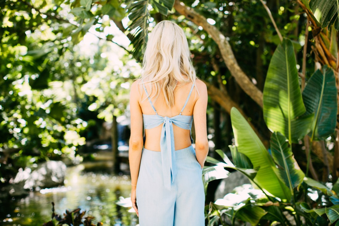 leverage your time - blue jumpsuit - summer jumpsuit