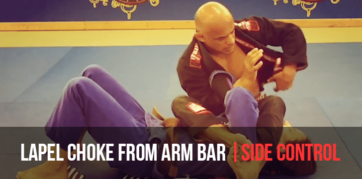 Lapel Choke From Arm Bar Defense