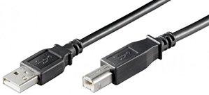 Schwarz - USB Kabel A/B USB 2.0 + 1.1 Stecker A auf Stecker B 1,80m 1,8m 1,8 m Druckerkabel Anschlusskabel z.B fuer SCANNER von SENSELL