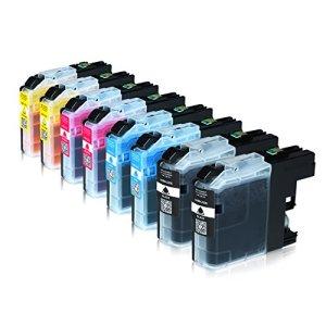 8 Tintenpatronen für Brother LC-223 XXL LC-225 LC-227, MFC-J4420DW MFC-J4620DW 4-in1, DCP-J4120DW MFC-Ink, MFCJ5320DWG1 MFC-InkFaxA3, Schwarz je 20ml, Color je 13ml