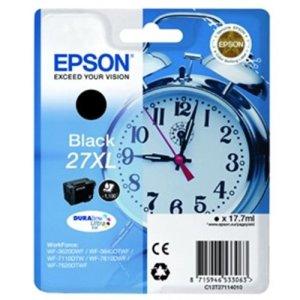 EPSON T2711 Tintenpatrone Wecker 27XL, Singlepack, schwarz