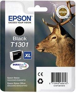 Epson T1301 Tintenpatrone (Hirsch, Singlepack) schwarz