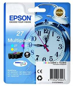 EpsonT2705 Tintenpatronen (Wecker 27, 3 Stück) cyan/magenta/gelb