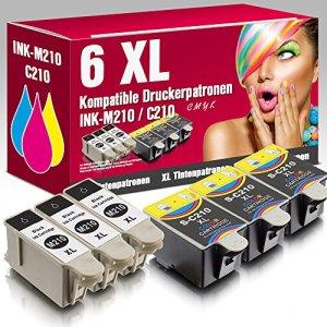 ms-point® 6 kompatible Druckerpatronen für Samsung CJX-1000 CJX-1050W CJX-2000FW Patronen kompatibel zu INK-M210 INK-C210 INK-M215