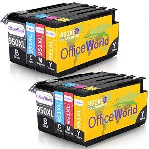 OfficeWorld 950XL 951XL 8 Pack Kompatibel Tintenpatronen mit Neuen Chips zu HP Officejet Pro 8600 8610 8100 8620 8630 8640 8660 8615 8625 8100 251dw 271dw Drucker (2-Schwarz, 2-Cyan, 2-Magenta, 2-Gelbe)